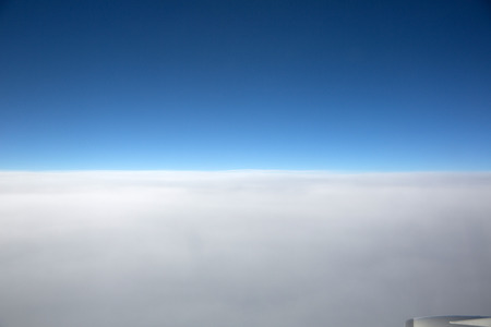 troposphere: From the troposphere look at the earth Stock Photo
