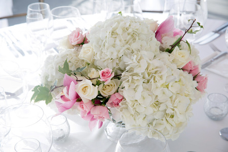 Flowers at an outdoor wedding venue/Wedding venue flowers Stock Photo - 28174381