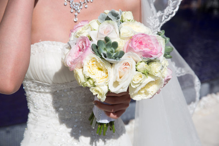 Flowers at an outdoor wedding venue Wedding venue flowers Stock Photo - 28181643