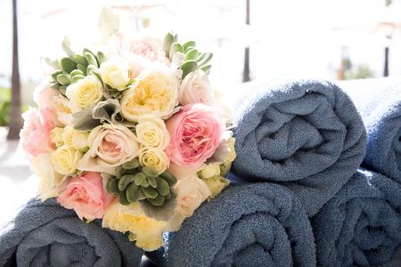 venue: Flowers at an outdoor wedding venue Wedding venue flowers