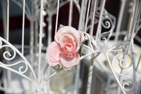 Flowers at an outdoor wedding venue/Wedding venue flowers Stock Photo - 28174387
