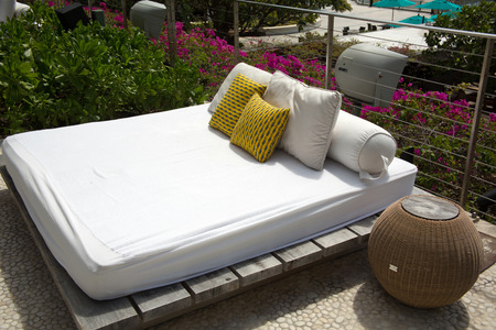 caribbeans: Resort hotel furnishings and folding chairs  waikiki beach hawaii