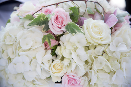Flowers at an outdoor wedding venue/Wedding venue flowers Stock Photo - 28174539