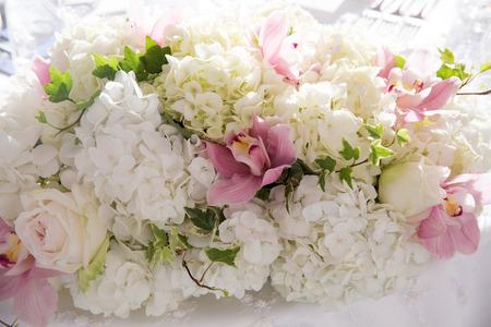 Flowers at an outdoor wedding venueWedding venue flowers photo