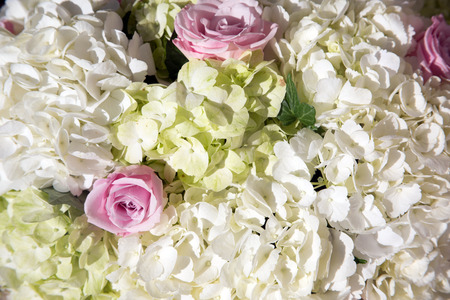 Flowers at an outdoor wedding venue/Wedding venue flowers Stock Photo - 28174542