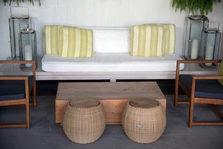 Resort hotel furnishings and folding chairs  waikiki beach hawaii