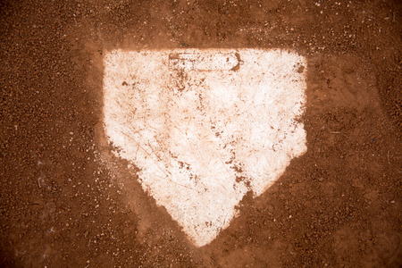 dirt: baseball field red dirt Stock Photo