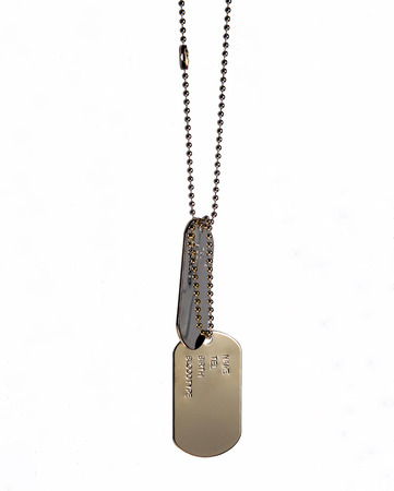 dog tag army chains photo