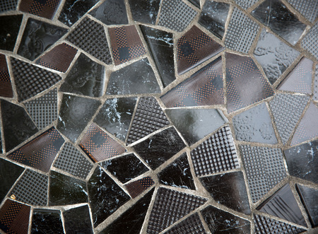 Broken tile wallBroken tile photo