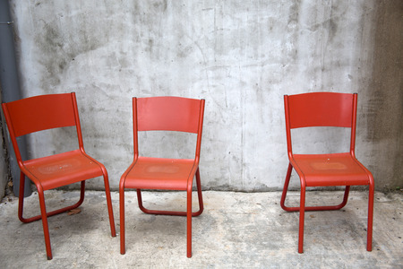 empty red chair photo
