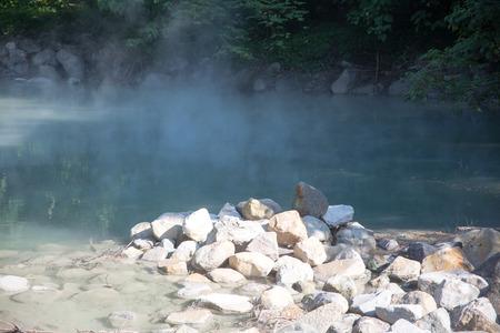 hot temper: El calor geotérmico Fountain Valley Foto de archivo