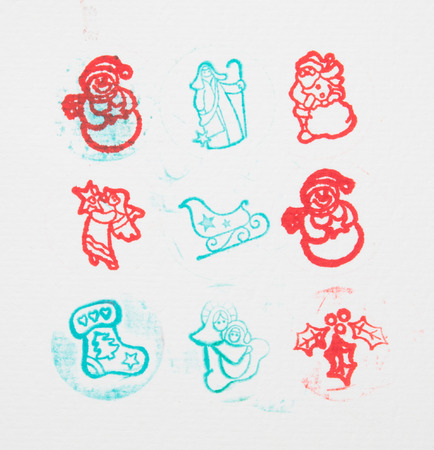 christmas stamps photo