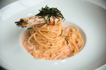 shrimp spagetti photo