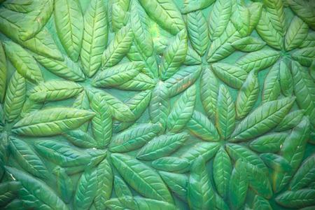 weathered: leaf weathered wall