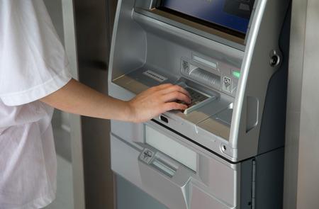 cashing: cashing from the machine Stock Photo