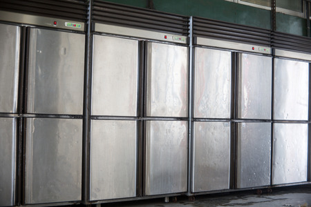 steel iron freezer