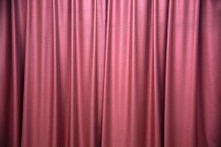 contrast: High contrast red curtain stage Stock Photo