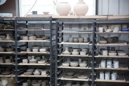 ceramic: ceramic factory Stock Photo