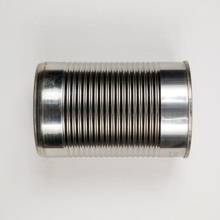 tin: silver tin can