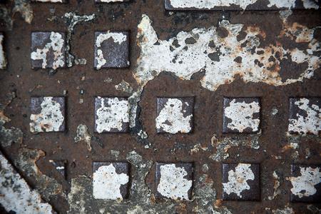 weathered: weathered ironrusty steel Stock Photo