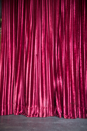 stardom: High contrast red curtain stage Stock Photo