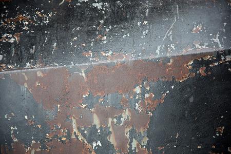 iron: rusty iron on rusty steel