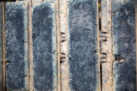 iron and steel: rusty iron on rusty steel