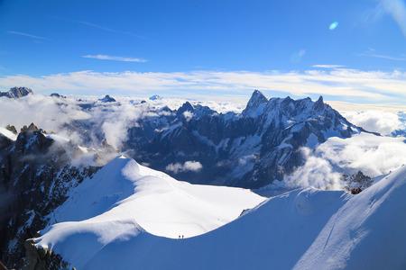 pinnacle: Mount Aiguille Du Midi, French Alps, France. Stock Photo