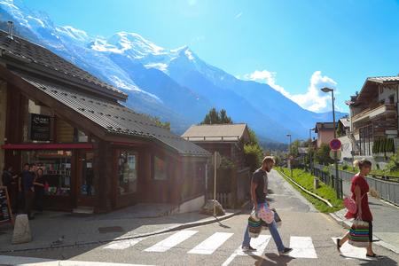aiguille: Mount Aiguille Du Midi, French Alps, France. Editorial