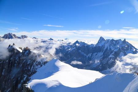 midi: Mount Aiguille Du Midi, French Alps, France. Stock Photo