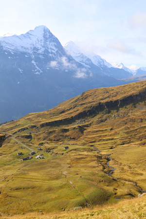 the bernese oberland: October 5,2014 Switzerland, Bernese Oberland, Grindelwald, First, Mt Eiger Stock Photo