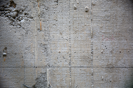 full of holes: Concrete structure Stock Photo