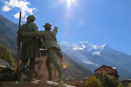 aiguille: Mount Aiguille Du Midi, French Alps, France. Stock Photo