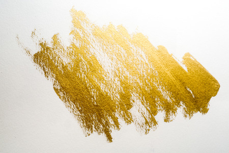 pale cream: gold painting background Stock Photo