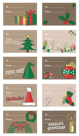 Set of Christmas Gift Tags photo