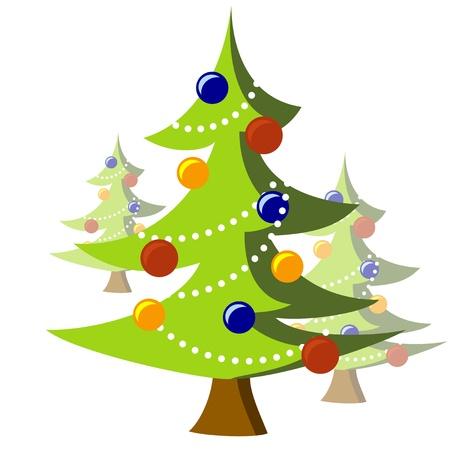 kitsch: Kitsch Style Christmas Trees Stock Photo