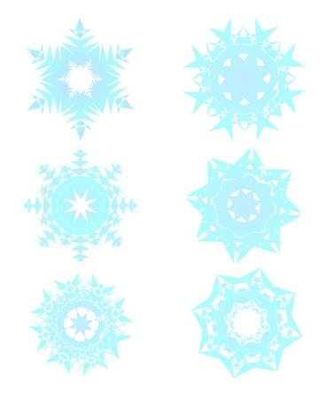 雪の結晶 写真素材