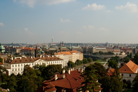 czech culture: An example of the beautiful architecture of Prague, Czech  Stock Photo