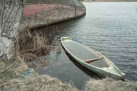sunk: No one needed decaying wrecks of old fishing boats, in Gdansk  Poland