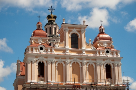 casimir: St. Casimir in Vilnius. One of the many beautiful churches Vilnius. capital Lithuania. Stock Photo