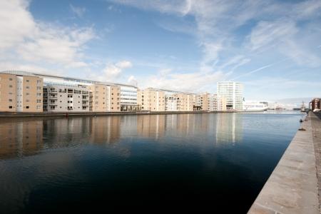 scandinavian peninsula: View of the modern district of this beautiful city.