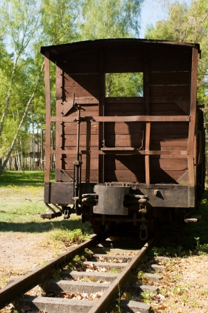 Old train freighter wagon. photo