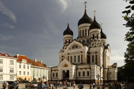 tallin: Tallin, Estonia - June, 28 2008 - The facade Orthodox church Alexander Nevsky in the  Tallinn, Estonia. Editorial