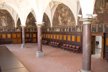 catechism: Details and architecture example in catholic church