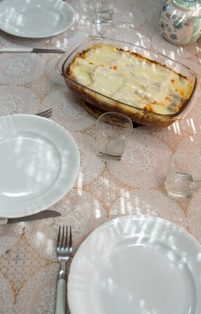 Lasagne, Italian cuisine in Polish conditions. photo
