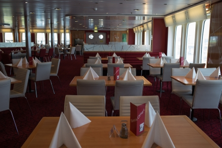 public spirit: GDYNIA, POLAND - JUNE 22 Open day on the ferry Stena Spirit, ship standing in the terminal Kwiatkowski in Gdynia, has made available to the public its 11 decks. June 22, 2013. Gdynia, Poland.