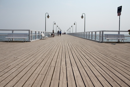 Pier in Gdynia Orlowo, Poland  photo