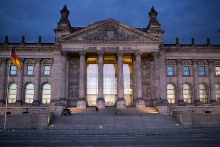 Reichstag Parliament in Berlin Germany.