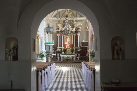 catechism: LUBLIN  POLAND - AUGUST 27  Details and architecture example in catholic church  August 27, 2013  Lublin, Poland