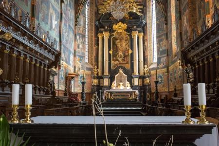 catechism: Sandomierz, Poland - AUGUST 28  Details and architecture example in catholic church  August, 28, 2013  Sandomierz, Poland
